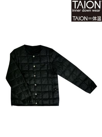 TAION(体温)【SALE】EXTRA CREENECK INNER DOWN SET クルーネックインナーダウンセットBlack 送料無料