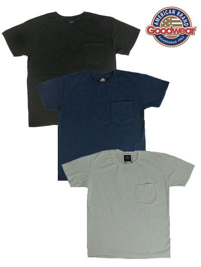 Good Wear グッドウエア GOOD 直営ストア WEAR USA製 別注のネイビータグ 国内正規品 スリムフィットモデル ヘビーコットン アメリカ製 別注スリムフィット ブラック ワンウオッシュ ネイビー 商品追加値下げ在庫復活 ホワイト 1ポケットTシャツ