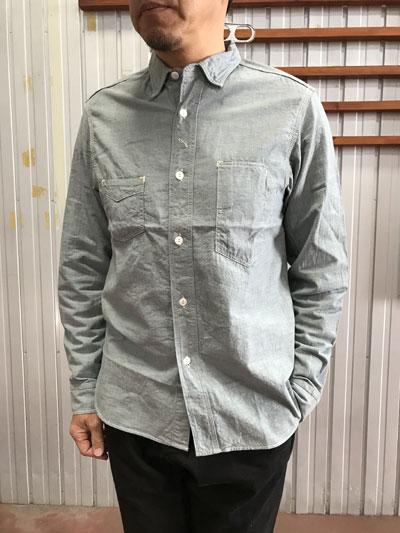 SUNNY SPORTS Sunny Sports サニースポーツ  Work Shirts シャンブレーワークシャツBlue Gray ブルーグレー  日本製 送料無料