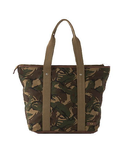 FRED PERRY Fred Perry Classic Zip Top Canvas Tote canvas Thoth HUNTING GREEN