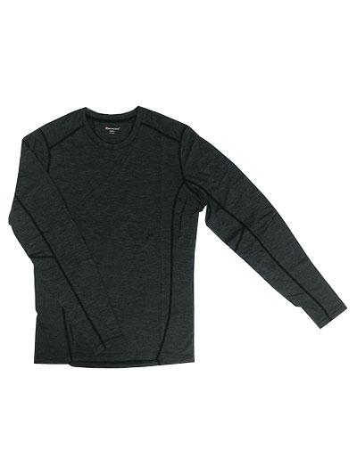 MONTANE(モンテイン) PRIMINO 140g LONG SLEEVE T-SHIRT プリミノ140 長袖Tシャツ ブラック