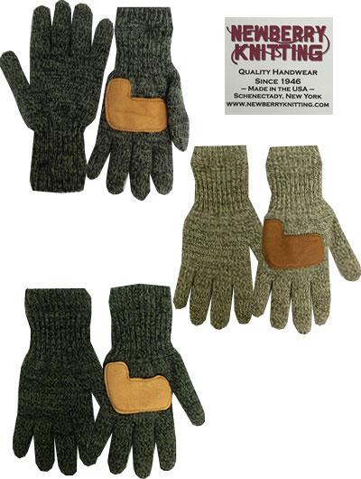 NEWBERRY KNITTING ニューベリーニッティング Linre Rag Wool Glove ニットグローブ Oatmeal Charcoal Olive オートミール チャコール オリーブ アメリカ製