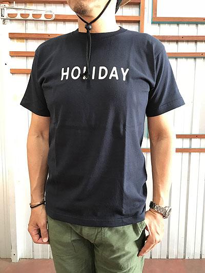 【SALE】STUDIO ORIBE(スタジオオリベ)DELICIOUS(デリシャス)HOLIDAY MONSARRAT HOLIDAYシャツ White Navy