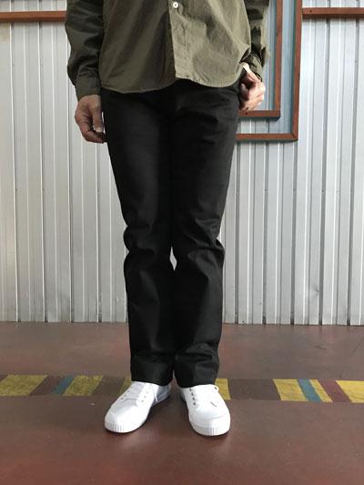 スタジオオリベ STUDIO ORIBE LPOCKET PANTS オンオフで活躍 LP01-91 Lポケットストレート ストレッチチノパンツ ブラック 日本製