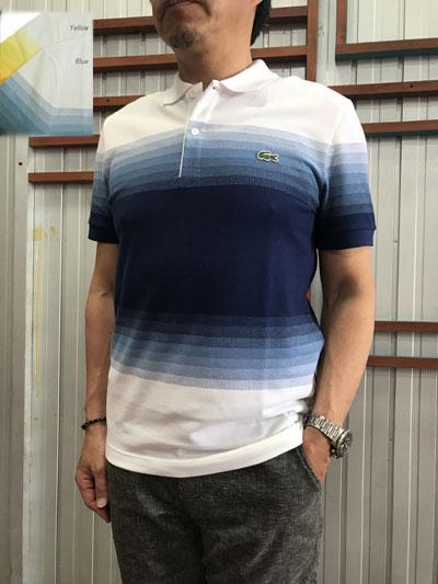 LACOSTE(ラコステ)フランスラコステ FRANCE LACOSTE レギュラーフィット オーガニックコットンピケカラーブロックポロシャツ Yellow Blue