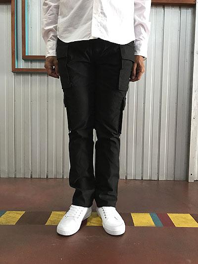 STUDIOORIBE スタジオオリベ EP02 細身でスタイリッシュに穿ける 8ポケットカーゴパンツ ブラック ストレッチ素材 カーキ ベージュ カモ ホワイト 送料無料