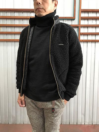 【SALE】SUNNY SPORTS(サニースポーツ)RETRO BOA BLOUSON レトロボアブルゾン Black Made in Japan【送料無料】【あす楽対応】