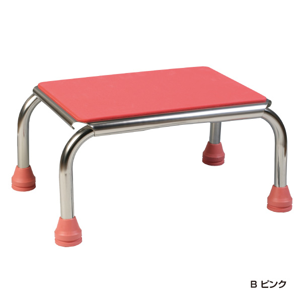 浴槽用ガッチリ踏み台<ピンク/15cm>
