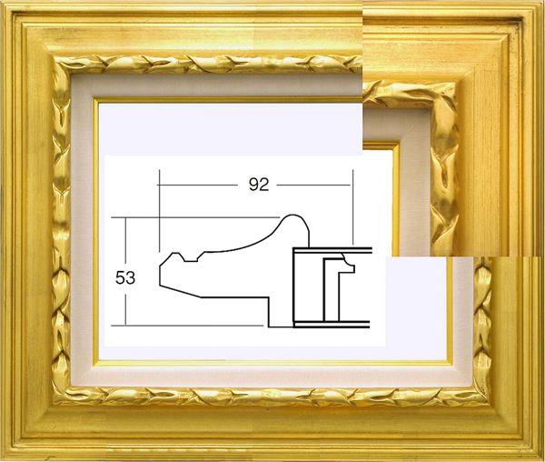 7811 ゴールド F4号 333×242mm 金箔 油彩額縁 表面保護アクリル(軽くて割れにくい) 油彩額 油絵額 黄袋