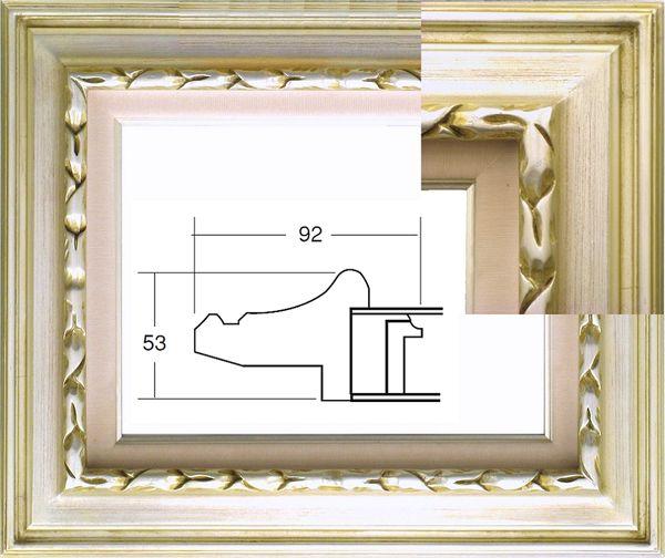 7811 シルバー P10号 530×410mm 銀箔 油彩額縁 表面保護アクリル(軽くて割れにくい) 油彩額 油絵額 黄袋