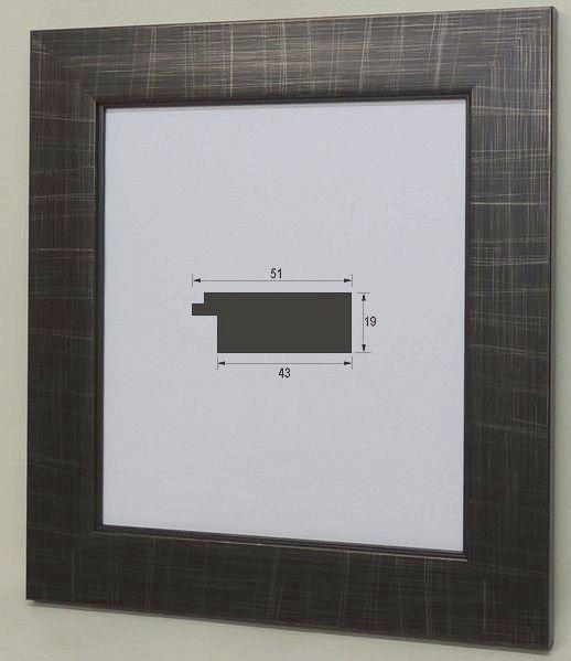 スタンド付きで壁でもテーブルでも飾れます 風雅 8×9寸 ブラック 色紙額 豪華な 色紙額縁 大仙 242×273mm 普通色紙サイズ モダン オシャレ アンティーク調 軽い ご予約品 激安特価 フラットフレーム スタンド付