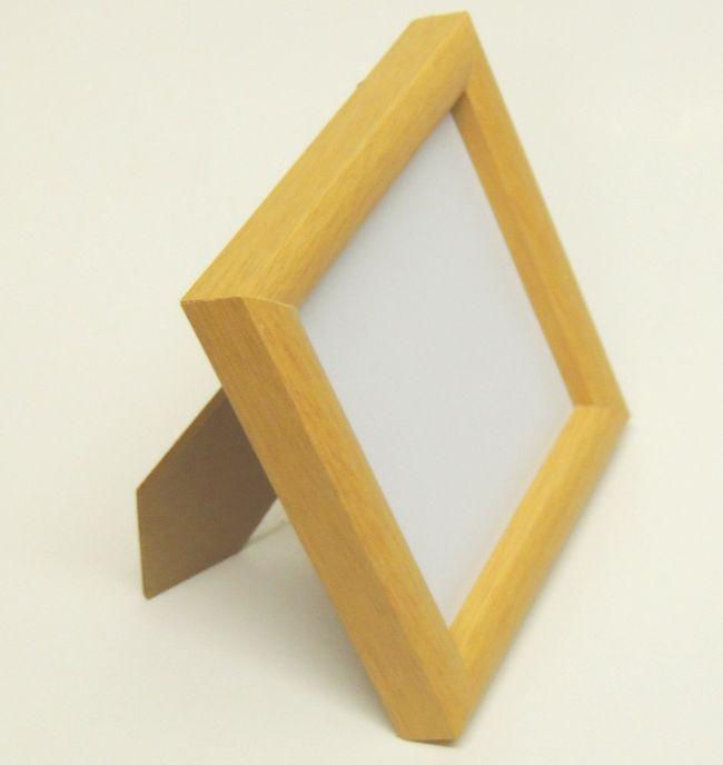 在庫限り 木製かまぼこ型 ナチュラル 10センチ角額 スタンド付 アウトレット品 プレゼント ランキングTOP10 SP包装