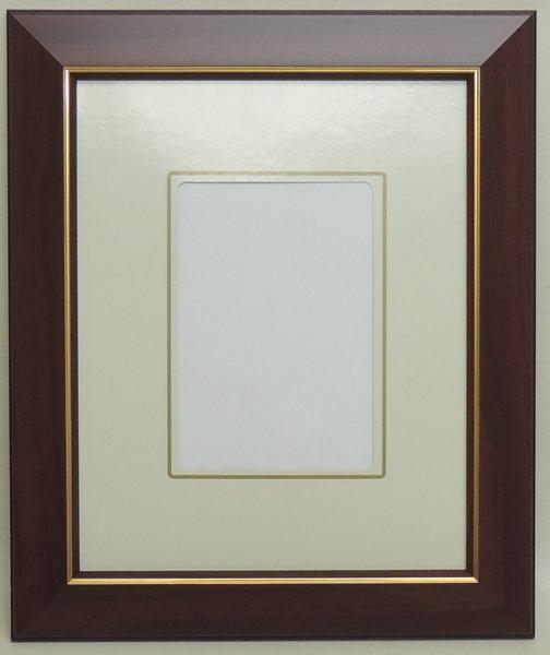 見た目も素敵なフレームです。 108 ブラウン インチ 255×203mm はがき額 豪華 デッサン額縁 水彩額 水彩額縁 フレーム ガラス アウトレット品 激安価格