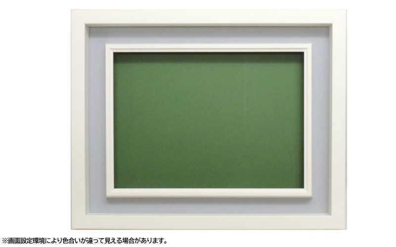 3441N F10号 530×455mm ホワイト 油彩額 油絵額 油彩額縁 油絵額縁 額縁 アクリルガラス 木製