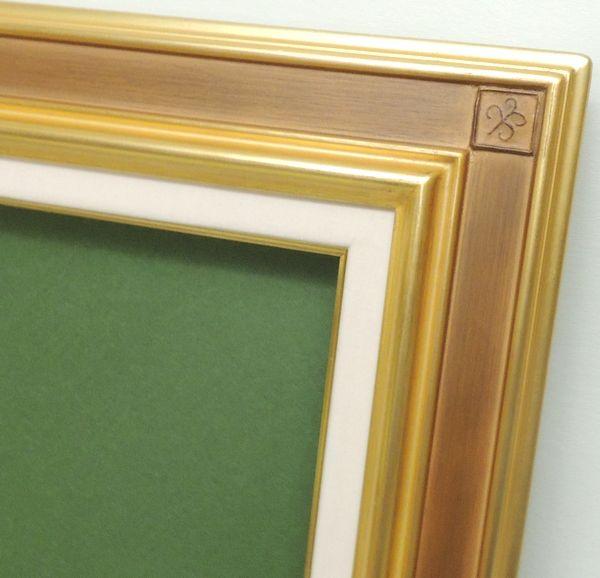 SP宮廷 金+ベージュ F10号油彩額縁 アクリル仕様 黄袋付き 高級額 アウトレット品、定価の半額 上品
