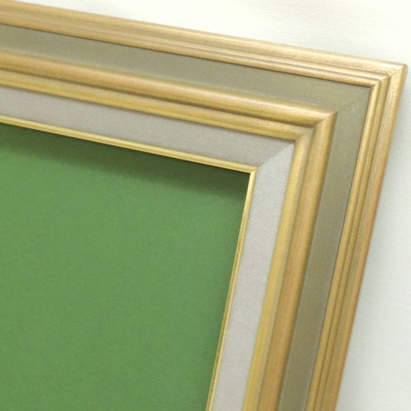 7748 G/グリーン F10(530×455mm) 油彩額縁 油彩額 油絵額縁 油絵額 キャンバス用 パネル用 木製 アンティーク調