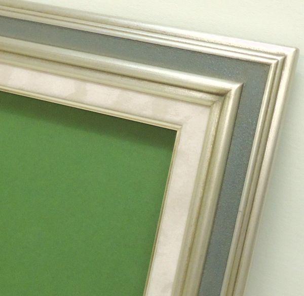 7748 S/ブルー F8(455×380mm) 油彩額縁 油彩額 油絵額縁 油絵額 キャンバス用 パネル用 木製 アンティーク調