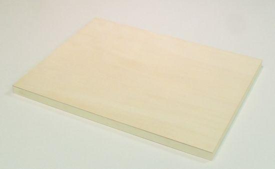 黄白色でアクの発生はほとんどありません。 木製パネル シナベニヤパネル M8号(455×273mm)