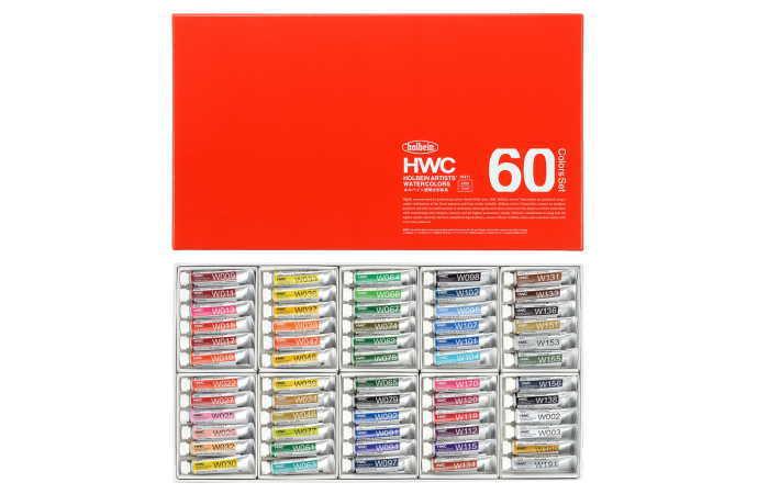 透明水彩絵具 5ml W411 60色セット HWC