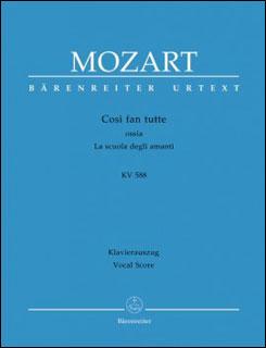 楽譜 モーツァルト/歌劇「コシ・ファン・トゥッテ」 K 588(【1049812】/BA 4606-90/ヴォーカル・スコア (ドイツ語/イタリア語)/輸入楽譜(T))