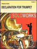 楽譜 トランペットのための宣言/ブラ作曲 44000844/トランペットソロと吹奏楽譜(T)/G3/T:5:00