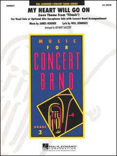 楽譜 マイ・ハート・ウィル・ゴー・オン(映画「タイタニック」主題曲)(04000674/ヴォーカル(又はアルト・サックス)ソロ&輸入吹奏楽譜/G3)
