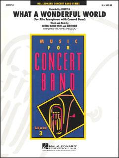 楽譜 この素晴らしき世界(04000765/アルトサックス・ソロ&吹奏楽/輸入吹奏楽譜(T)/Young Concert Band/T:2:50/G3)