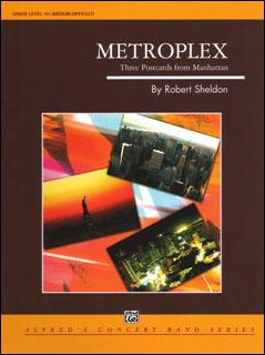 楽譜 シェルドン/都市の風景(メトロプレックス)~マンハッタンからの3枚の絵はがき~(24669/輸入吹奏楽譜(T)/G4.5/T:4:25)