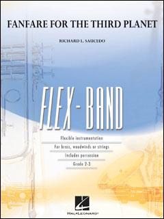 楽譜 サウセード/第三惑星のためのファンファーレ(04003282/フレックスバンド(吹奏楽譜)(T)/T:3:40/G2.5)