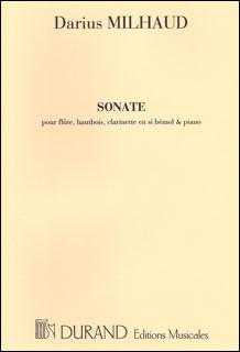 楽譜 ミヨー/フルート、オーボエ、クラリネットとピアノのためのソナタ Op.47(50560152/DF01028000/木管4重奏/輸入楽譜(T))