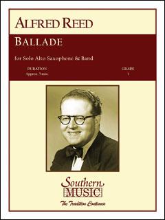 楽譜 A. リード/バラード(アルトサックスとバンドのための)(03776972/S377/輸入吹奏楽譜(T)/G3/T:5:00)