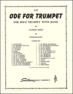 楽譜 A. リード/トランペットのための頌歌(03776976/S378/輸入吹奏楽譜(T)/G4/T:4:40)