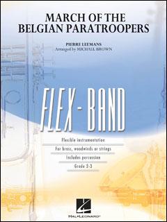 楽譜 リーマンス/行進曲「ベルギー落下傘部隊」(04004741/フレックスバンド(輸入吹奏楽譜)(T)/G2.5/T:2:40)
