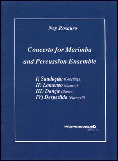 楽譜 ロサウロ/マリンバと打楽器アンサンブルのための協奏曲(打楽器七重奏)(CMPE01/打楽器7重奏/輸入楽譜(T))