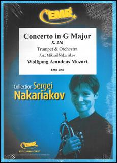 楽譜 モーツァルト/ヴァイオリン協奏曲 第3番 K216 (トランペット・ソロ版)(トランペット・ソロ&オーケストラ/G6)