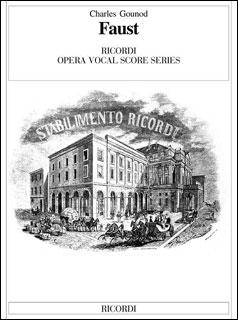 楽譜 グノー/歌劇「ファウスト」 【Vocal Score】(【77790】/CP05312705/50098260/ヴォーカル・スコア (イタリア語)/輸入楽譜(T))