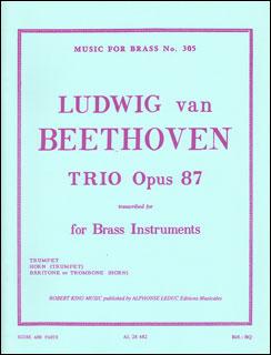 楽譜 ベートーヴェン/三重奏曲 作品87【金管三重奏】(【1727001】/AL28482/48185133/輸入楽譜(T))