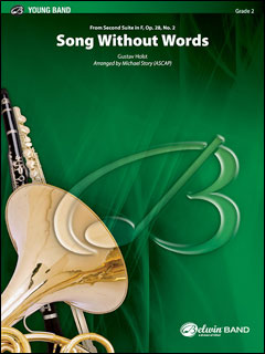 楽譜 無言歌 (「第2組曲」より)(【BD9933】/3468/輸入吹奏楽譜(T)/G2/T:2:20)