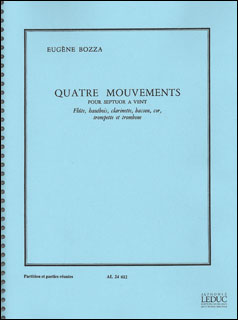 楽譜 ボザ/4つの楽章(【1723227】/AL24612/48182881/管楽7重奏/輸入楽譜(T))