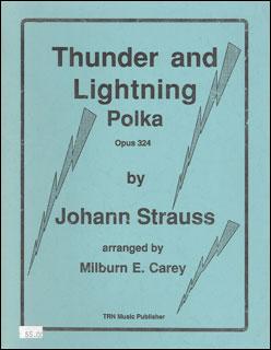 楽譜 シュトラウス2世/雷鳴と稲妻 (雷鳴と電光)(【2856】/CBTHU1/THUNDER/輸入吹奏楽譜(T)/G4/T:3:05)
