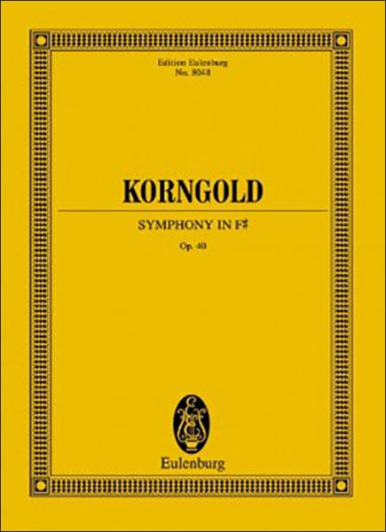楽譜 コルンゴルト/交響曲 嬰ヘ長調 作品40(【263925】/ETP 8048/49010288/スタディスコア/輸入楽譜(T))