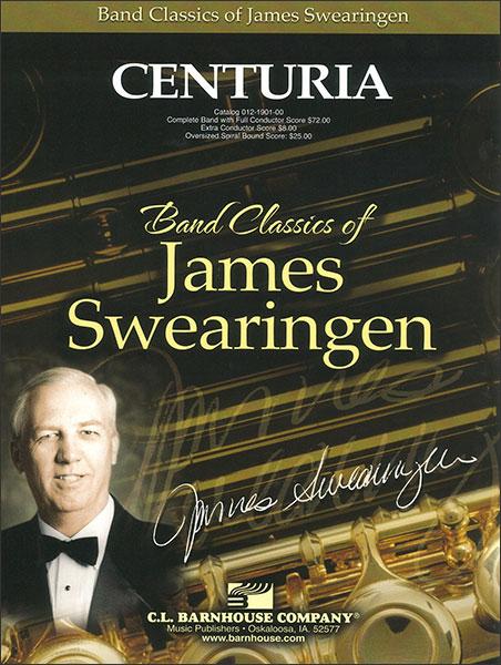 楽譜 センチュリア/スウェアリンジェン作曲 012-1901-00/輸入吹奏楽譜(T)コンサート・バンド/G3/T:5:30