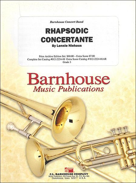 楽譜 ラプソディック・コンチェルタンテ/ニーハウス作曲 輸入吹奏楽譜(T)コンサート・バンド/G3/T:3:00