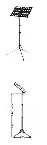 オオハシ 譜面台/軽量折りたたみタイプ AS-14