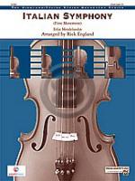 [楽譜] 交響曲第4番「イタリア」第一楽章《輸入オーケストラ楽譜》【10,000円以上送料無料】(ITALIAN SYMPHONY)《輸入楽譜》