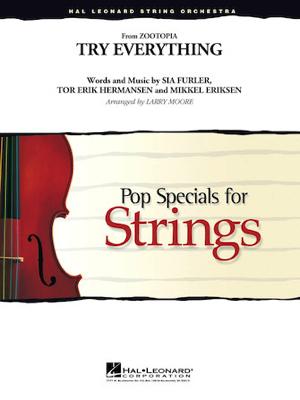 [楽譜] トライ・エヴリシング(ディズニー映画「ズートピア」主題曲)《輸入オーケストラ楽譜》【10,000円以上送料無料】(Try Everything)《輸入楽譜》