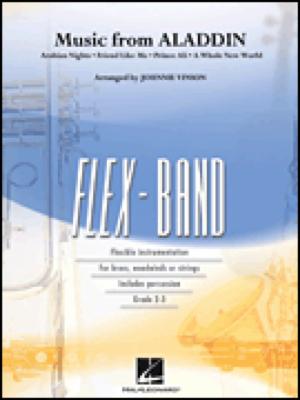 [楽譜] 「アラジン」メドレー(同名ディズニー映画より)【フレックスバンド】《輸入吹奏楽譜》【送料無料】(Music from Aladdin (Flex-Band)《輸入楽譜》