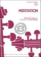[楽譜] 瞑想曲《輸入吹奏楽譜》【送料無料】(MEDITATION)《輸入楽譜》