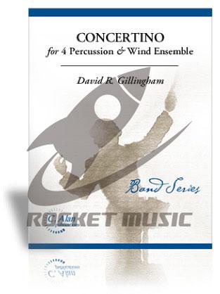 [楽譜] 4人の打楽器とウィンド・アンサンブルのための小協奏曲《輸入吹奏楽譜》【送料無料】(CONCERTINO FOR 4 PERCUSSION & WIND ENSEMBLE)《輸入楽譜》
