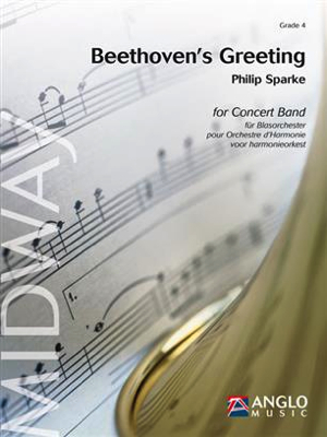 """[楽譜] ベートーヴェンの表敬 ~カノン""""人生を楽しめ""""による幻想曲 《輸入吹奏楽譜》【送料無料】(Beethoven's Greeting - Fantasy on the canon Freu' dich des Lebens)《輸入楽譜》"""
